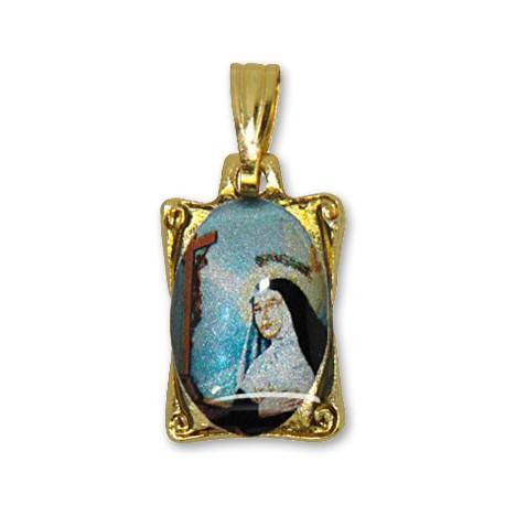 Médaille de Sainte Rita rectangulaire
