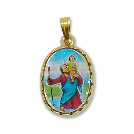 Médaille de Saint Christophe ovale