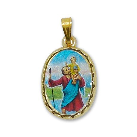 Médaille avec Ange rectangulaire