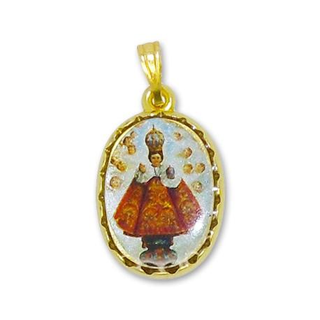 Médaille du Petit Jésus de Prague ovale
