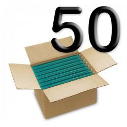 Solid colored candles - Curaçao - Carton 50 pcs