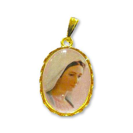 Médaille de la Vierge de Medjugorje  ovale