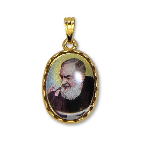 Médaille de Padre Pio ovale