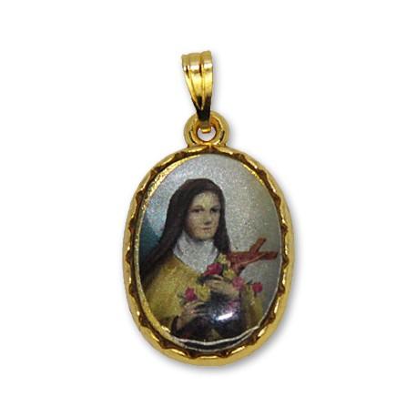 Médaille de Sainte Thérèse de Lisieux ovale