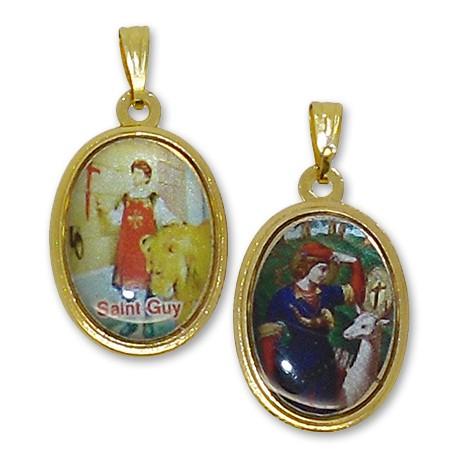 Médaille de Saint Guy et Saint Hubert ovale