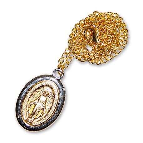 Médaille de la Vierge Miraculeuse avec chaînette