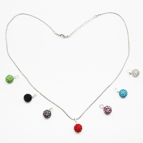 Cristal - 7 pièces et chaîne - Perles