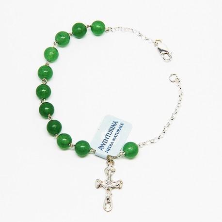 Chapelet-bracelet en argent et pierre - Aventurine