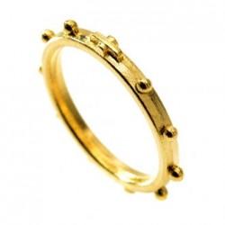 Bague dizaine métal doré
