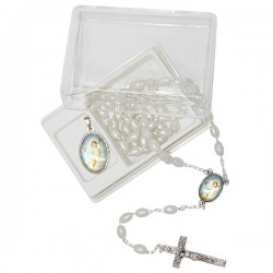 Rosary with box and medal - Communion