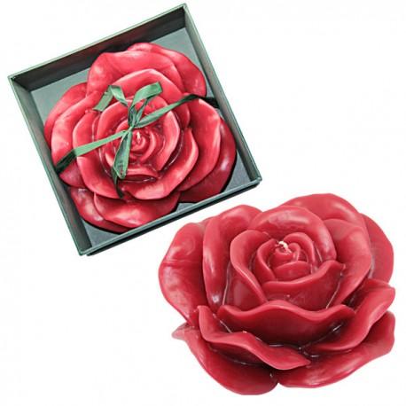 Bougie en forme de rose parfumée