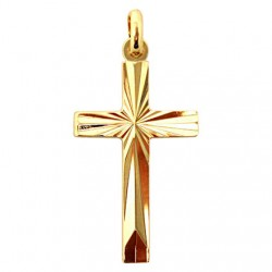Striated cross plated gold - 30 mm