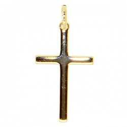 Cross plated gold - 25 mm