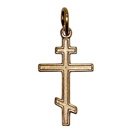Croix avec Christ  plaqué or 40 mm