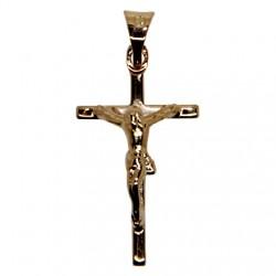 Croix avec Christ plaqué or 30 mm