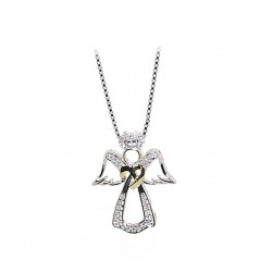 Angel Pendant With Chain - 925 Silver
