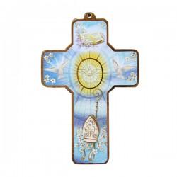 Croix en bois Communion - 13 cm
