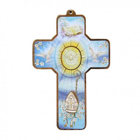 Croix en bois Arche de Noe  - 15 cm