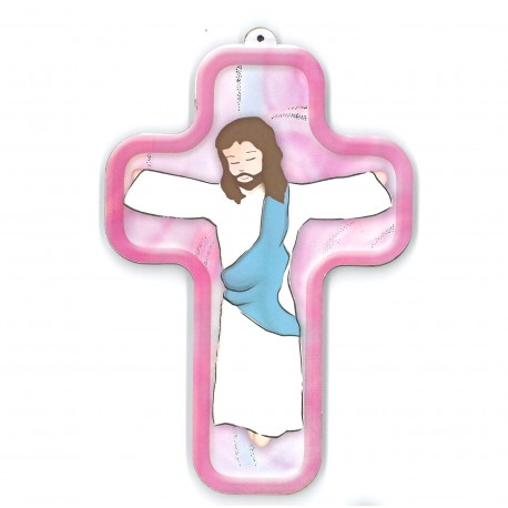 Croix en bois Communion 13 cm