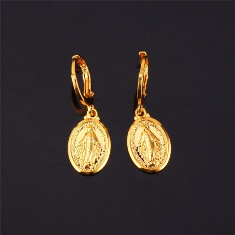 Boucles d'oreilles de la Vierge Miraculeuse