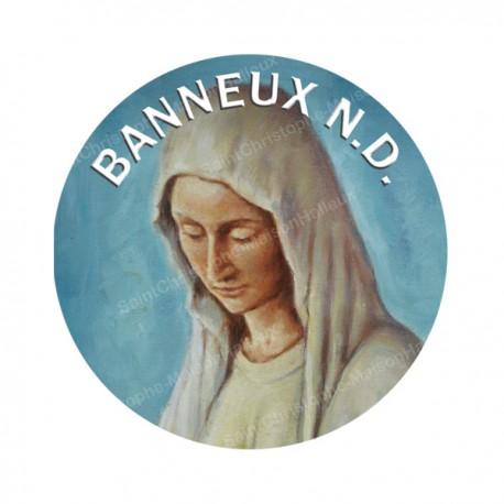 """Autocollants ronds - 45mm - """"Vierge Banneux"""" - planche 24 pièces"""