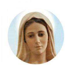 """Autocollants ronds - 45mm - """"Vierge Marie"""" - planche 24 pièces"""