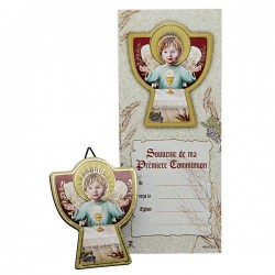 Photo frame Angel Communion French text