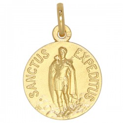 Médaille Saint Expédit plaqué or - 18mm