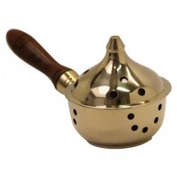 Encensoir à main - doré - Diamètre 8 cm