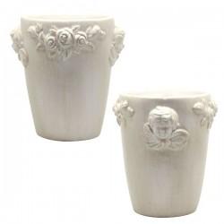 Pot Ange Fleurs Céramique Anglaise - 12 .50 cm