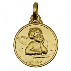 Angel Gold Plated Medal - 14 mm