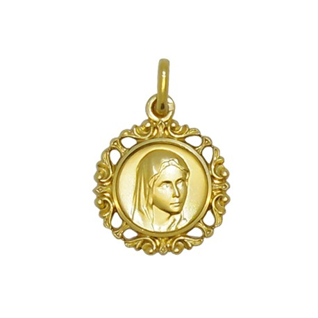 Médaille Saint Benoit plaqué or - 14 mm