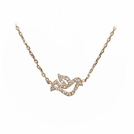 Bracelet Colombes - Plaqué or