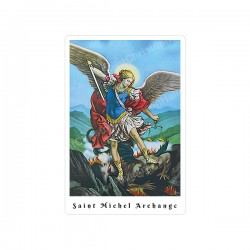 Rectangular Stickers - Archangel Saint Michael  - 8 pieces - french