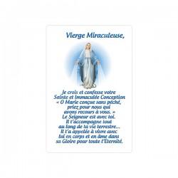 """Autocollants Rectangulaires - """"Vierge Miraculeuse"""" - 8 pièces - Français"""