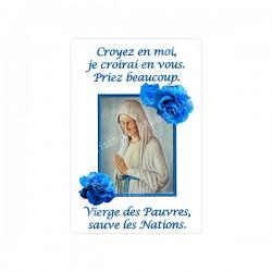 """Autocollants Rectangulaires - """"Notre Dame de Banneux - Roses"""" - 8 pièces - Français"""