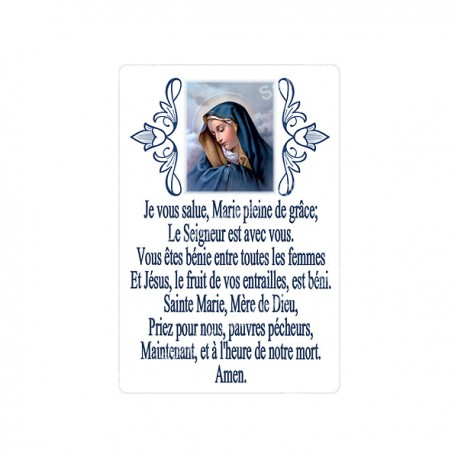 """Autocollants Rectangulaires - """"Je vous salue Marie"""" - 8 pièces - Français"""