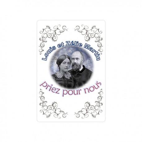 """Autocollants Rectangulaires - """"Louis et Zelie Martin"""" - 8 pièces - Français"""