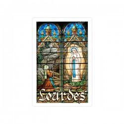 """Autocollants Rectangulaires - """"Lourdes - vitrail"""" - 8 pièces - Français"""