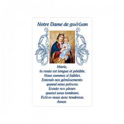 """Autocollants Rectangulaires - """"Notre-Dame de guérison"""" - 8 pièces - Français"""