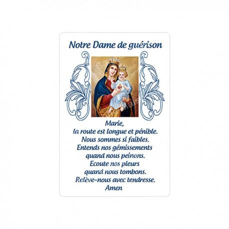 Autocollants Rectangulaires de la Vierge de Banneux 8 pièces