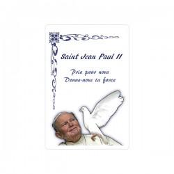 """Autocollants Rectangulaires - """"Pape Jean-Paul II - 2"""" - 8 pièces - Français"""
