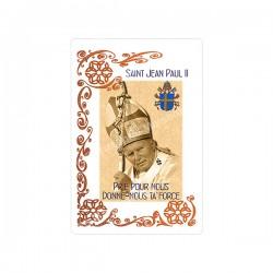 """Autocollants Rectangulaires - """"Pape Jean-Paul II - 1"""" - 8 pièces - Français"""