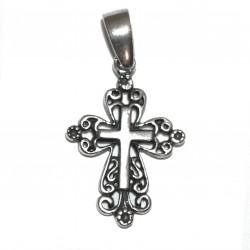 Croix Byzantine Pendentif - Argent 925