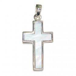 Croix en Nacre Pendentif - Argent 925