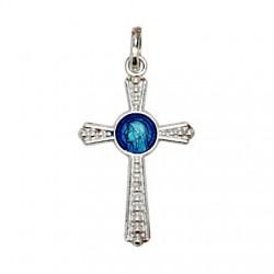 Croix avec la Vierge Marie Pendentif - Argent 925