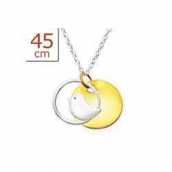 Happiness Bird Necklace Pendant - Silver 925