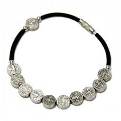 Bracelet Avec Médailles Saint Benoit - métal
