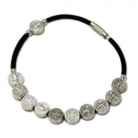 Bracelet Avec Croix - métal brun