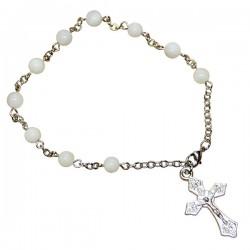 Bracelet Dizaine Perles en Nacre
